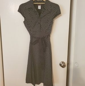 Modcloth Tropical Wear Polka Dot Dress with Sash